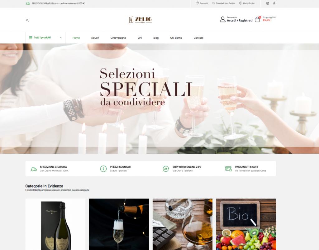 zeligbar - shop online per liquori vini e champagne